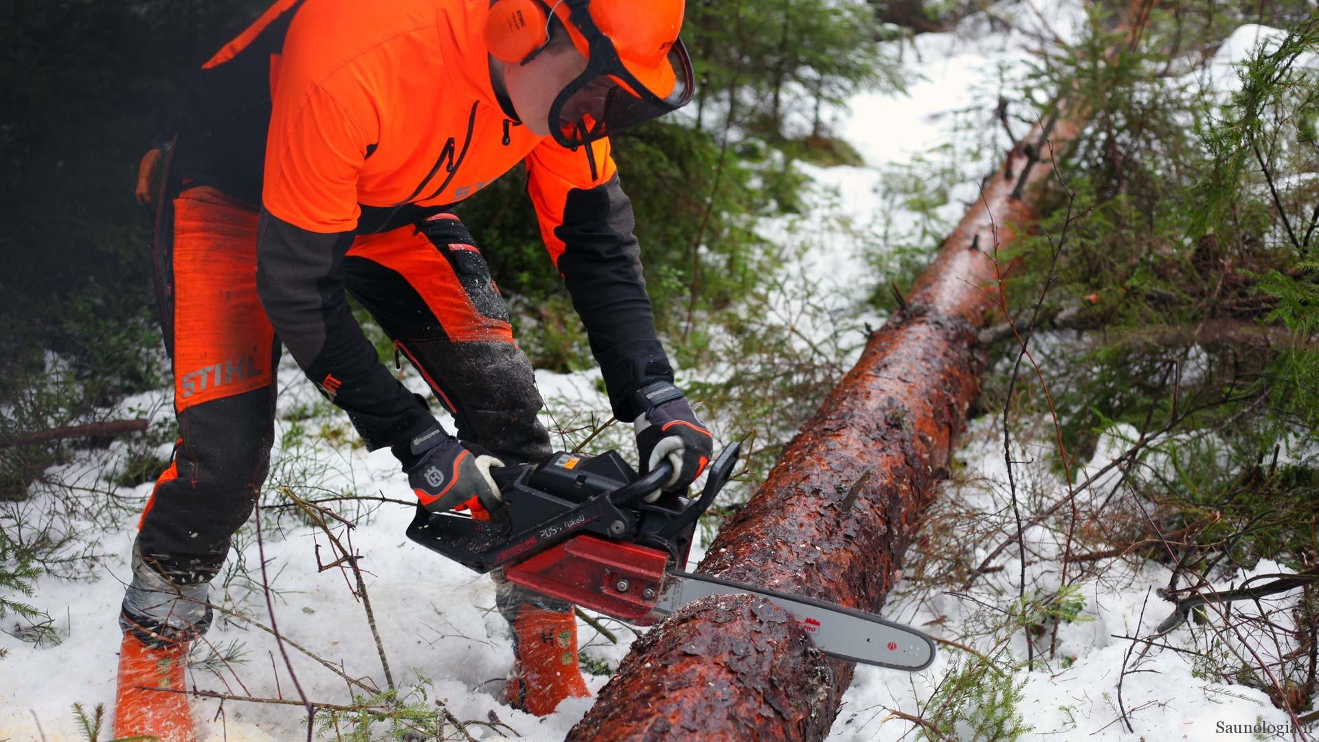 Puiden kaatoon ja puusta tukiksi