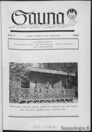 Sauna-lehden kansi 1948