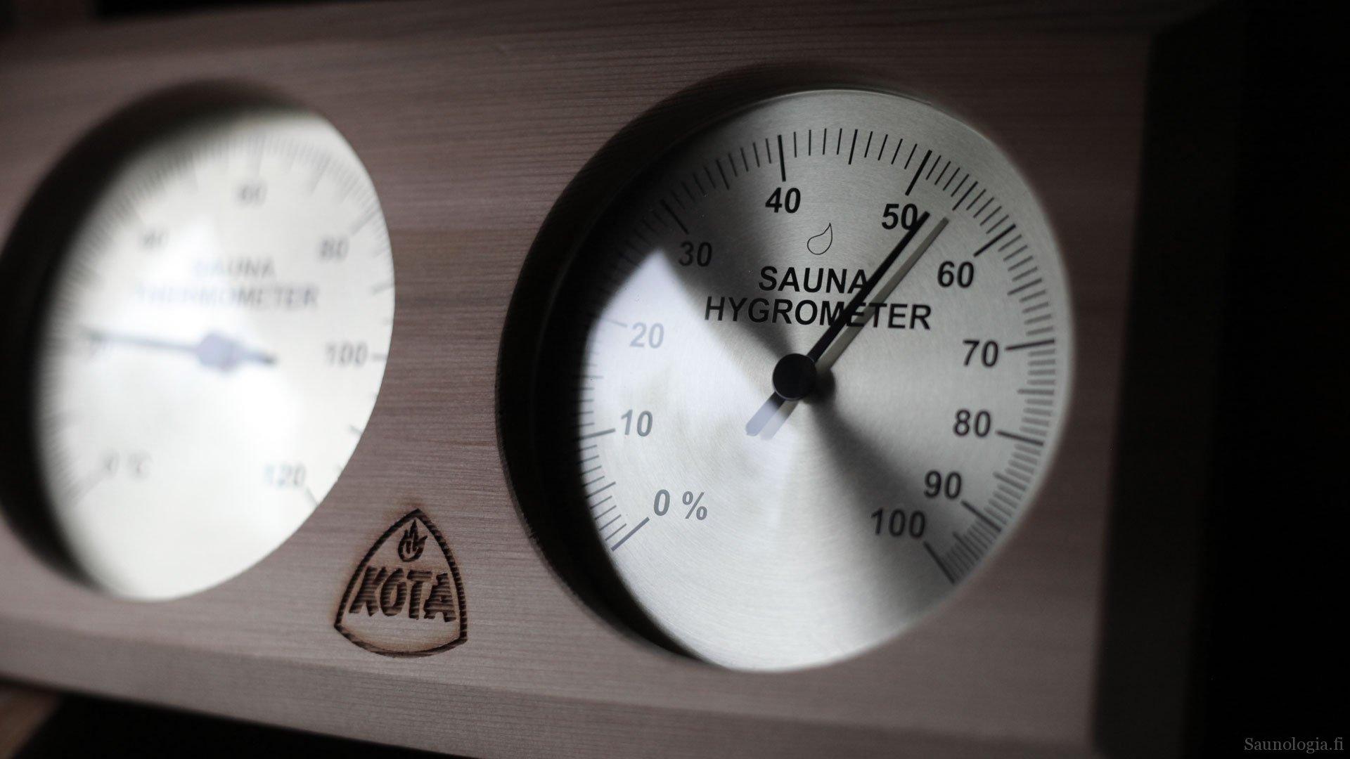 Mihin saunan lämpömittari  kannattaa sijoittaa?