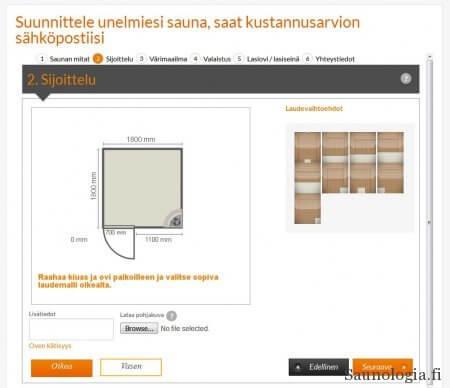 SunSaunan saunan suunnitteluohjelma