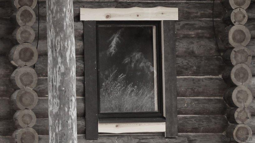 Ikkunanpielet pihasaunassa