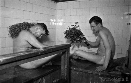 Elannon sauna. Helsingin kaupungin museon kokoema.