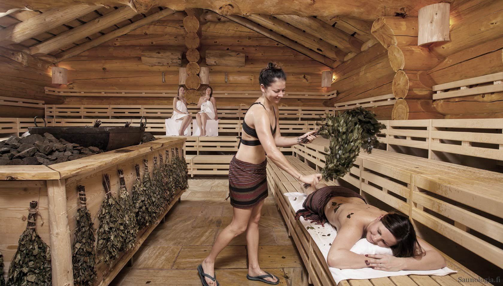 The world's largest sauna center at Therme Erding