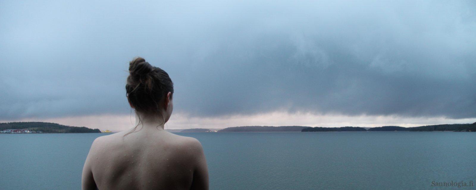 Saunarantti - Meri näkymä