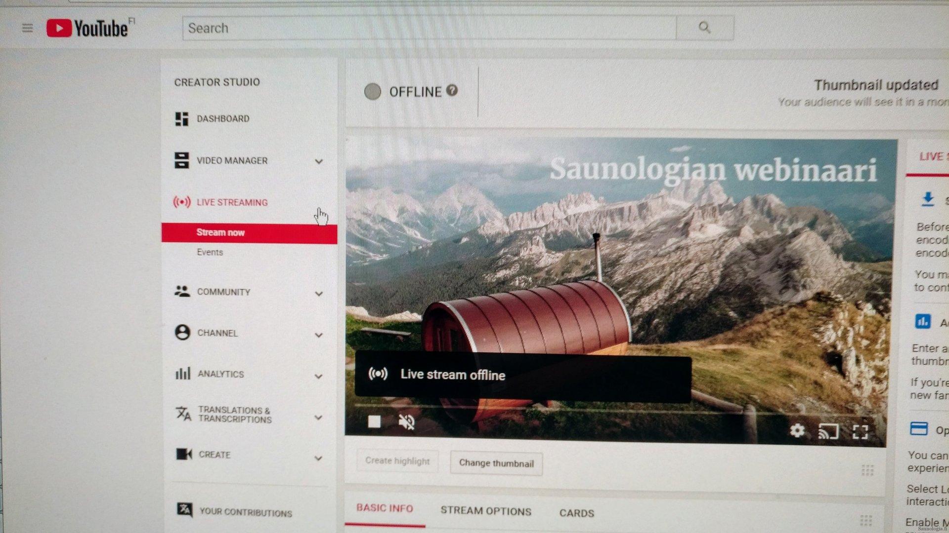 Saunologian sauna-aiheinen webinaari