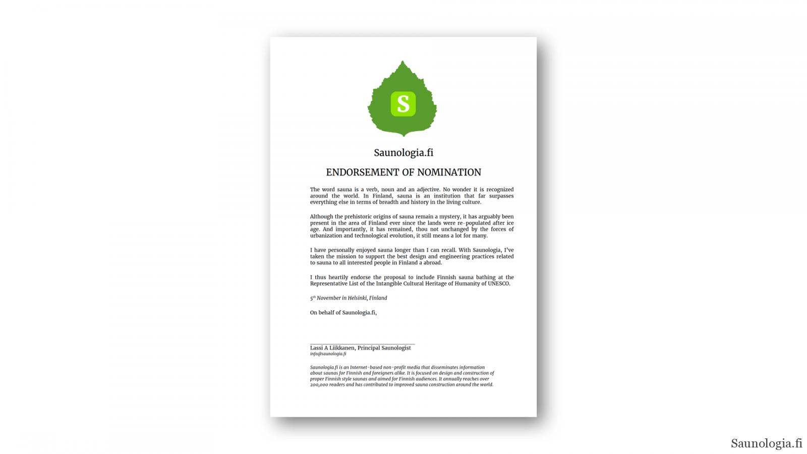 UNESCO-saunologia-endorsement
