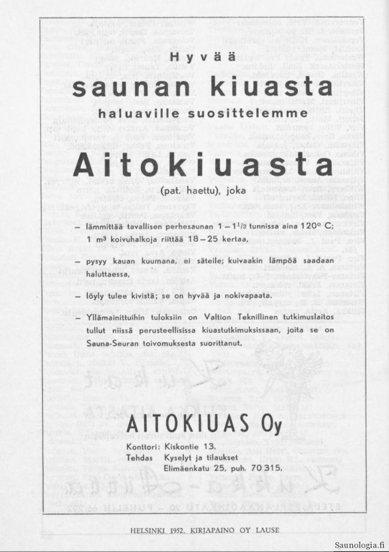 1952-Aitokiuas-ensimmäinen-mainos