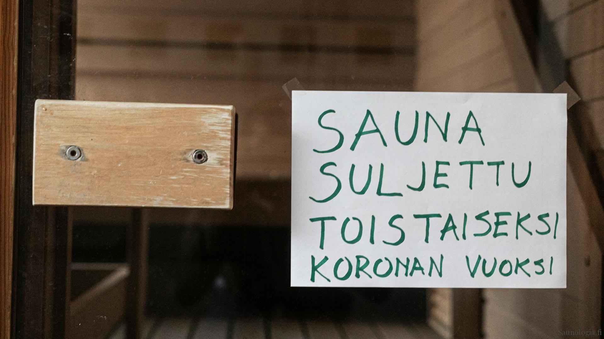 Tutkimus: Suomalainen saunoo viikoittain, Korona kuritti