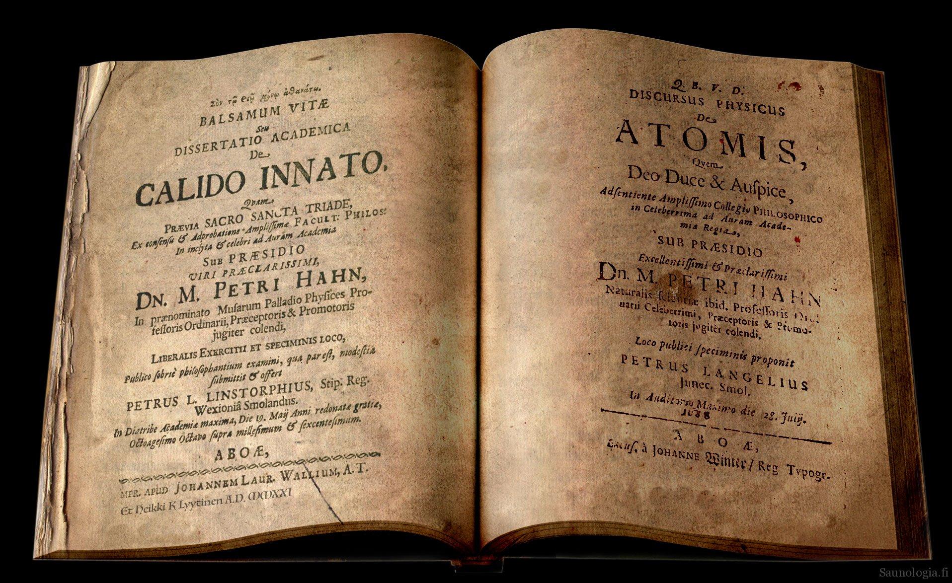 Sauna 1600-luvun historian kirjoissa