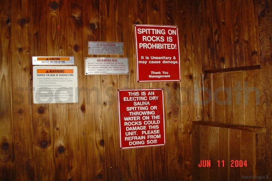 futile sauna warning signs