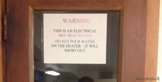 false warning of electric sauna